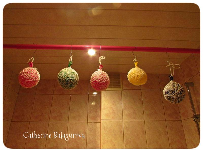 Как сделать шары из ниток и клея ПВА своими руками, фото № 10