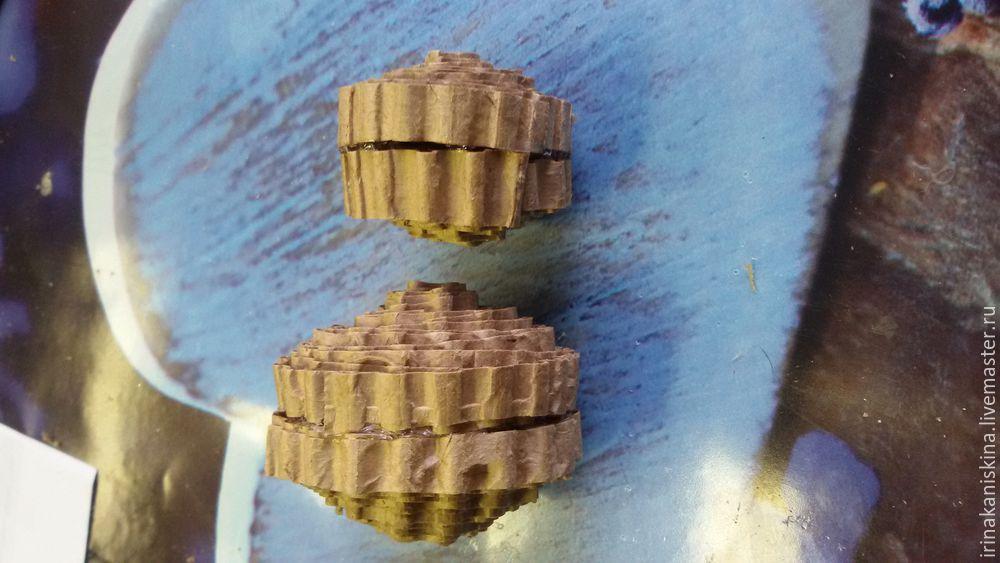 Мастерим петушка из гофрокартона, фото № 14