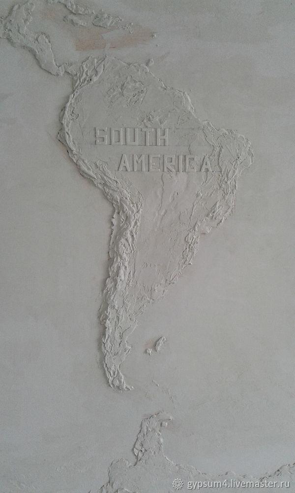 Изготавливаем барельеф «Карта», фото № 21