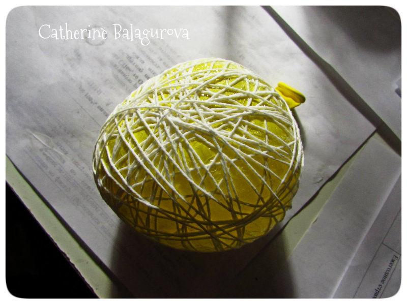 Как сделать шары из ниток и клея ПВА своими руками, фото № 9
