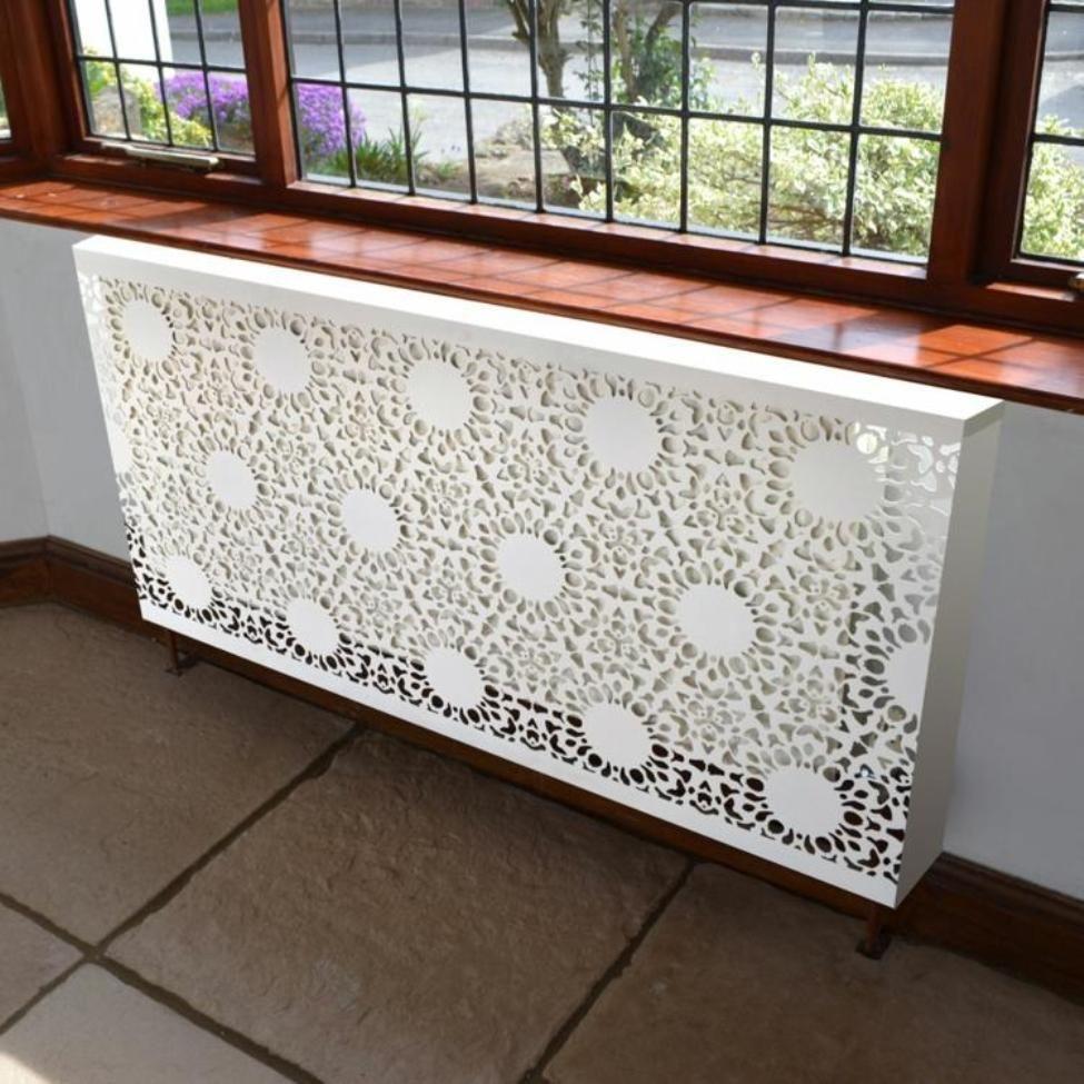 """Isıtma pillerini dekore etmek için 45 fikir ya da evde ısıtma radyatörlerini nasıl """"kanıtı"""", böylece mısırlı gözler, fotoğraf № 7"""