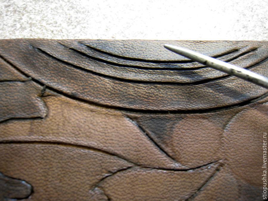 革のブレスレット「プレリュード秋」、写真№19