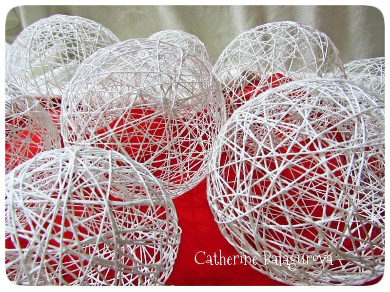 Как сделать шары из ниток и клея ПВА своими руками, фото № 15