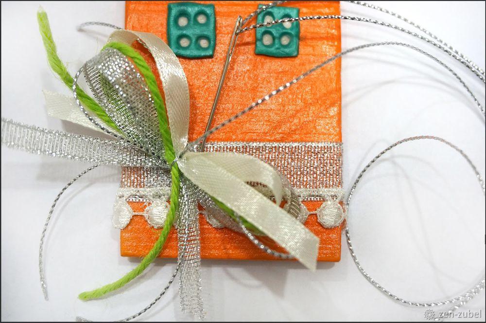 Создаём новогодние игрушки-подвески «Домики», фото № 39