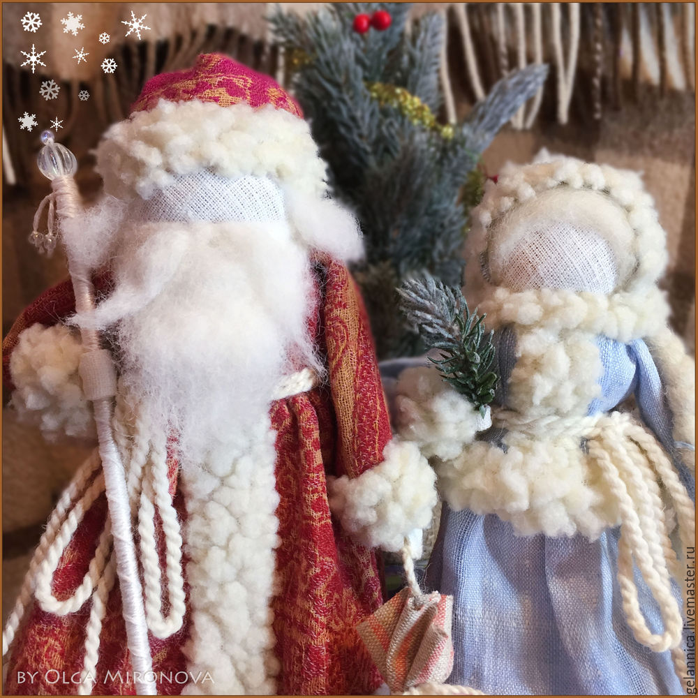 Master Class Santa Claus at Snow Maiden batay sa folk dolls, larawan № 48