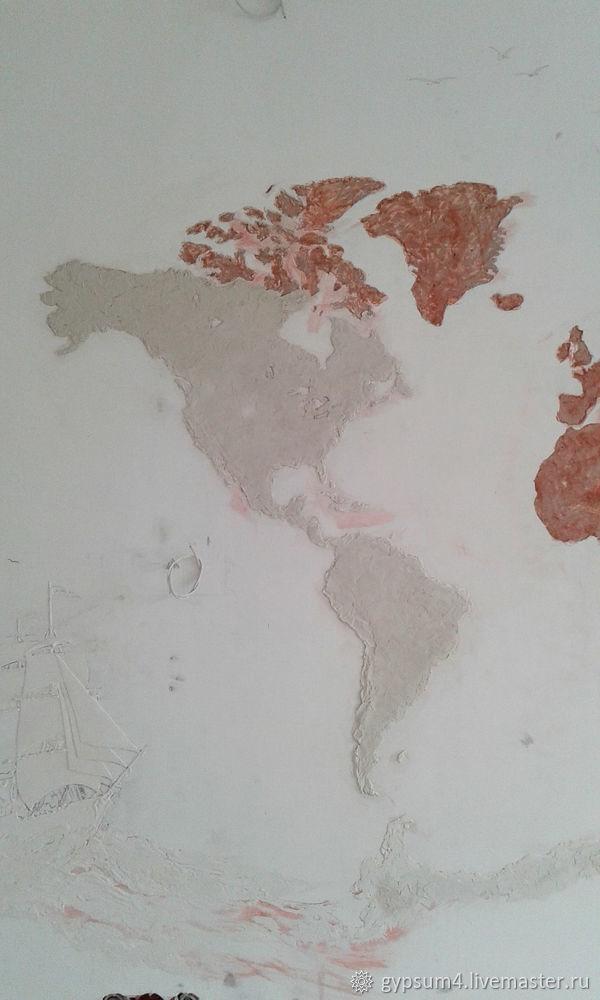 Изготавливаем барельеф «Карта», фото № 8
