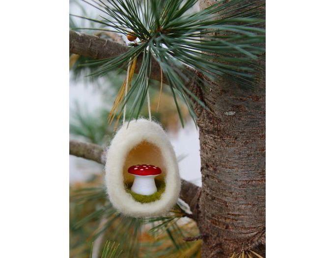 Рождестволық шыршаны жақсы безендіріңіз! Рождестволық ойыншықтардың 50 идеялары оны өзіңіз жасайды, сурет № 22