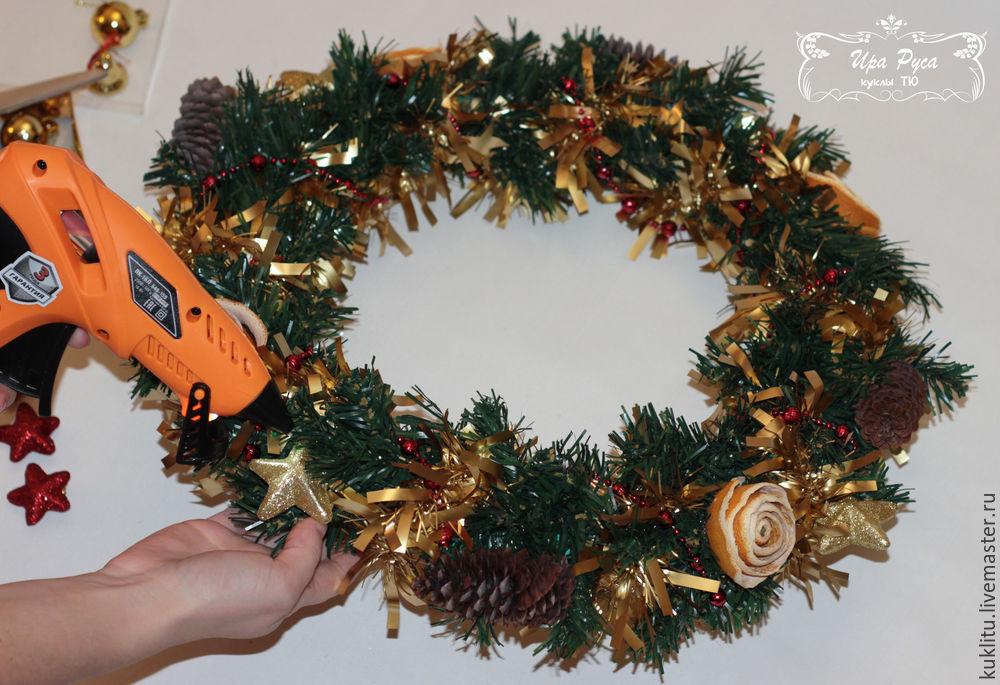 Создаем рождественский венок, фото № 23