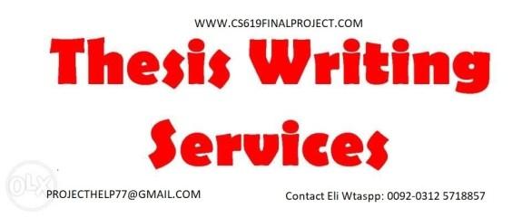 Thesis writing in Pakistan