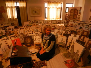 Sue Hunt books exhibition in Jaipur