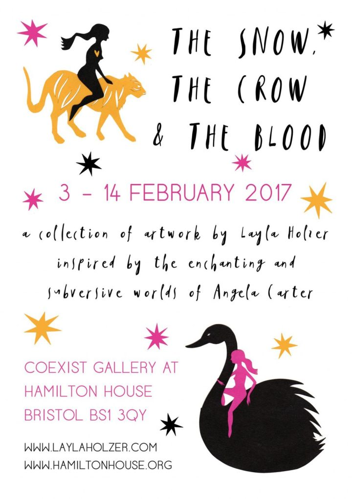 The Snow, The Crow, and The Blood exhibition Poster