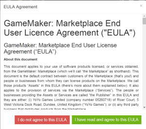 GameMaker EULA (old)