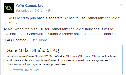 GMS2: License FAQ