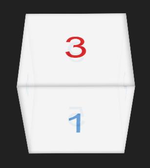 Cube at 45°
