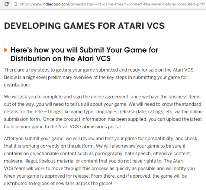 "AtariBox Developers Announcement... This seems rather vague and ""to be determined"" for getting third-party developers on board, and they're ALREADY taking pre-orders?"