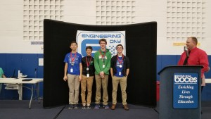 Seton 2nd place 300x169 - Seton placed 1st, 2nd, and 3rd at High School Engineering Day at BOCES