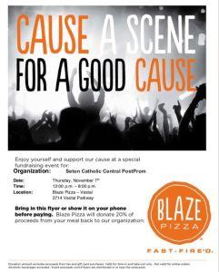 blaze pizza flyer nov 7 2019 241x300 - Blaze Pizza Fundraiser