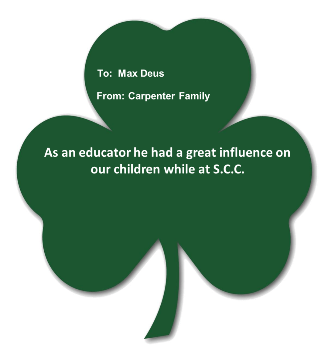 carpenter deus - Shamrocks for Saints