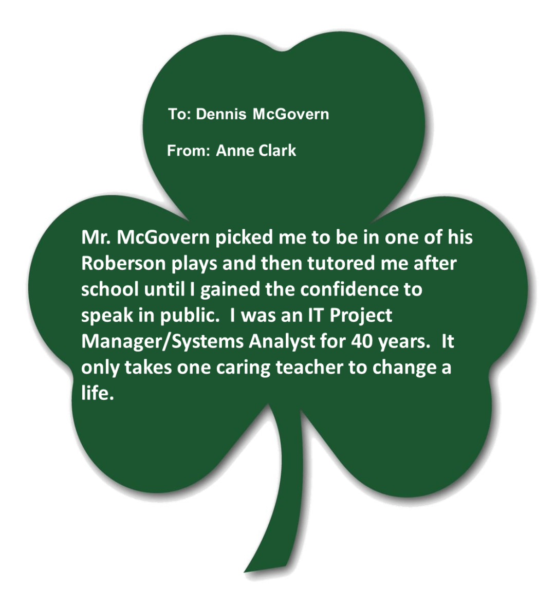clark mcgovern - Shamrocks for Saints