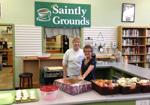 saintly grounds cafe seton catholic central high school - Saintly Grounds Cafe