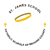 st james school catholic school broome county logo - School History