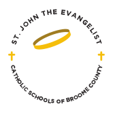 st john the evangelist catholic school broome county logo - Saintly Grounds Cafe