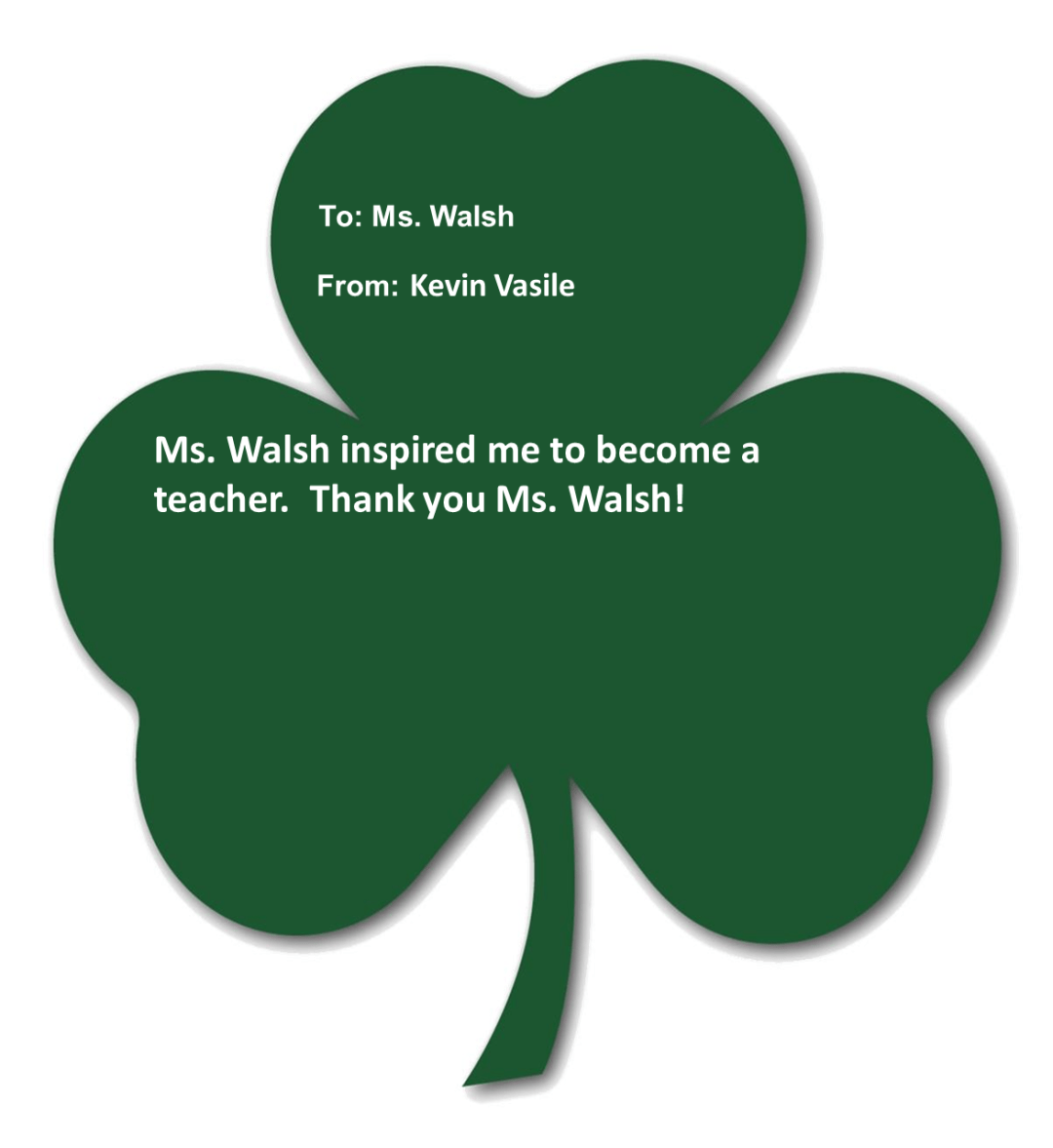 vasile walsh - Shamrocks for Saints