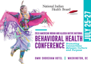 Woman in colorful tribal garb dancing. 2018 NIHB Conference