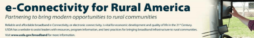E-connectivity for Rural America banner