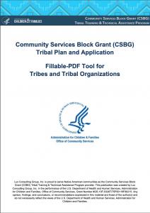 CSBG FY21 Tribal Plan & Application Fillable-PDF Tool