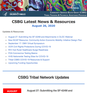 CSBG Latest News and Resource August 26