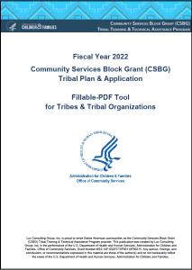 FY 2022 CSBG Tribal Plan & Application Cover Image