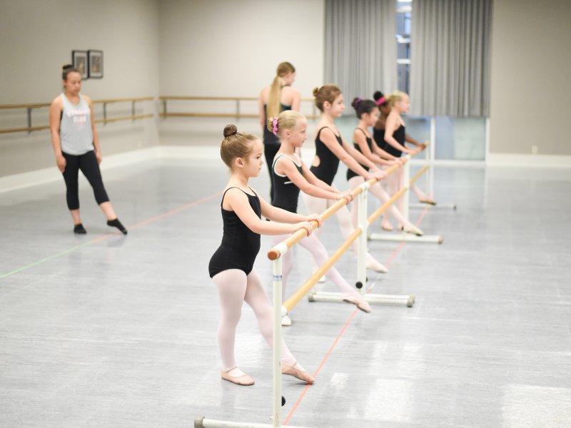 Ballet Technique Class at an exceptional midwest U.S. Dance Intensive