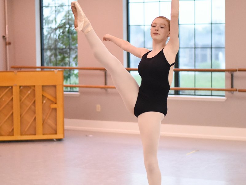 Student in Columbia Ballet Summer Intensive Training