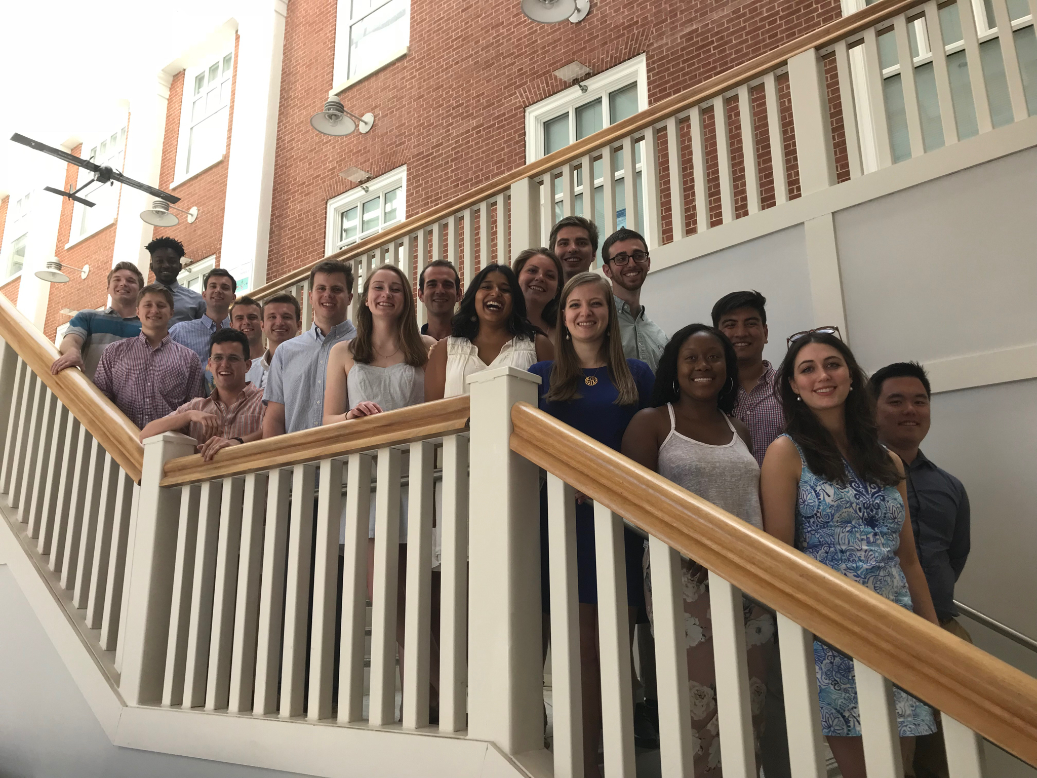 CS Senior Majors and Minors on the steps to the Great Hall