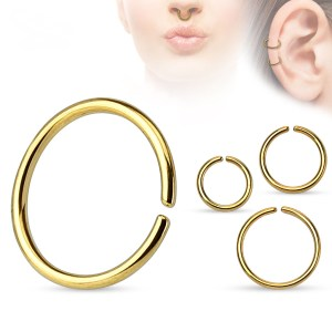 Seamless Hoops – Anodized Yellow Gold Color