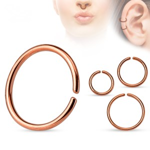 Seamless Hoops – Anodized Rose Gold Color