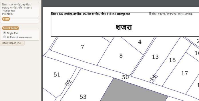 up bhu naksha 2021 online