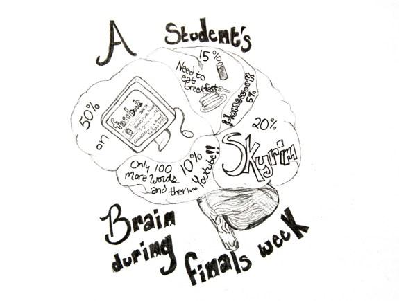Students brain — Illustration by Ashley Swanson.