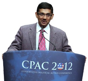 """""""2016: Obama's America"""" director, Dinesh D'Souza, speaking at the 2012 Conservative Political Action Conference. — Photo by Mark Taylor"""