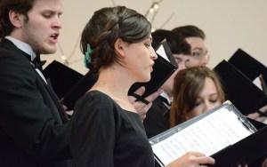 Talia Enevoldsen, 20, junior of Potter, sings Sunday at the Chadron Arts Center. —Photo by Shae Brennan
