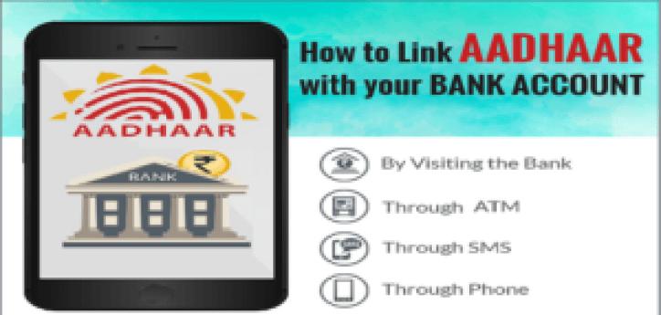 link aadhaar number with bank account online | 4 सरल तरीकों से आधार बैंक से लिंक करें