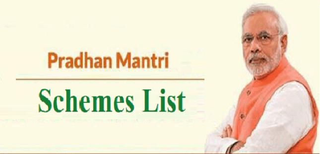 Narendra modi schemes प्रधानमंत्री जी द्वारा अभी तक शुरू की गयी सभी योजनाओं की सूची