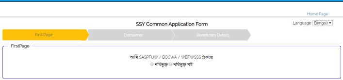 SSY Application form
