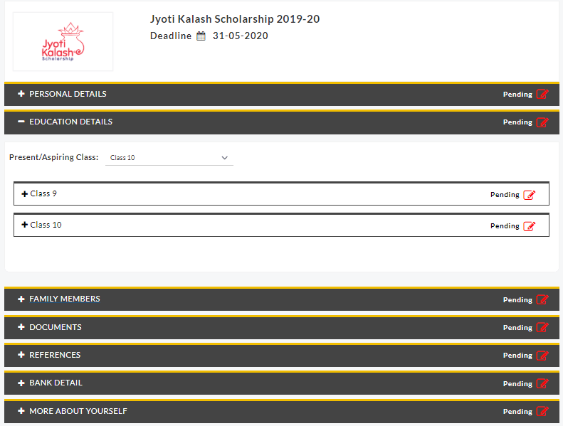 Jyoti Kalash Yojana Online apply form