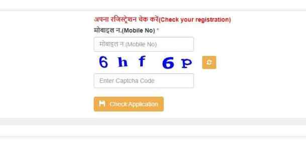 hope portal registration status
