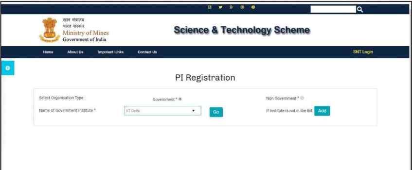 Satyabhama Portal PI Registration Form