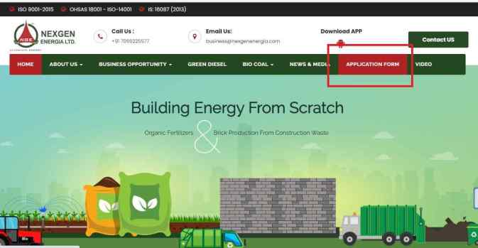 CNG Pump Dealership Application Form