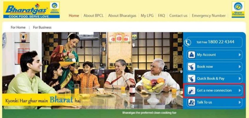 Bharat Gas Connection Online