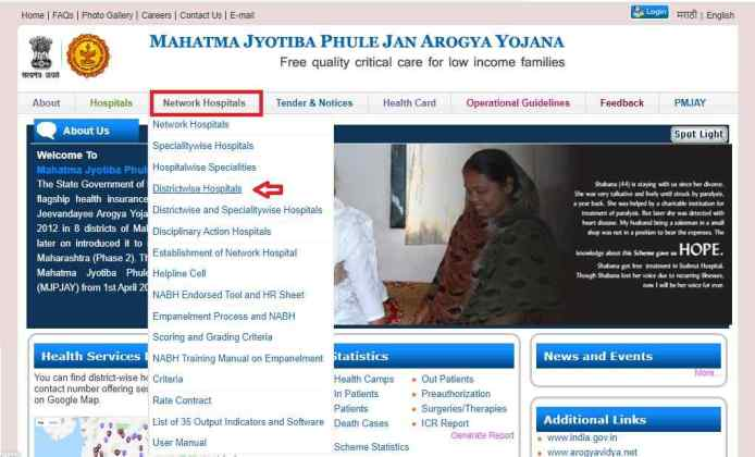 mahatma jyotiba phule jan arogya yojana hospital list